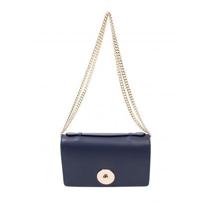 Bags and more Florenza Sötét kék Női Bőr Oldaltáska