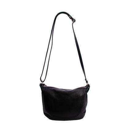 Bags and more Fonz Fekete Női Bőr Oldaltáska