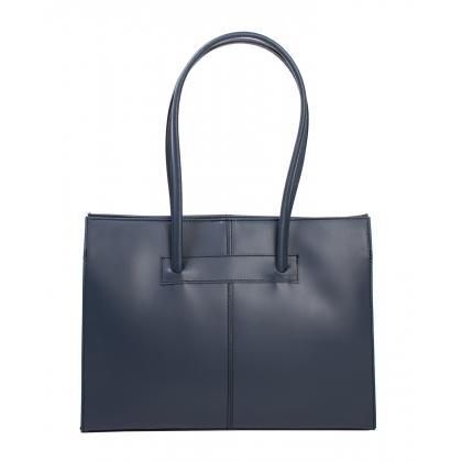Bags and more Fulvia Sötétkék Női Bőr Válltáska