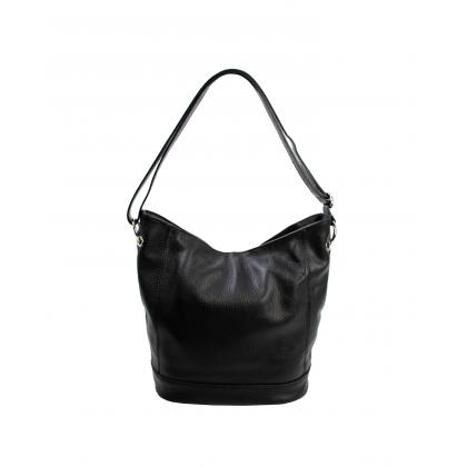 Bags and more Gavino Fekete Női Bőr Válltáska