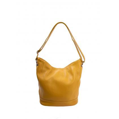 Bags and more Gavino Ősz sárga Női Bőr Válltáska