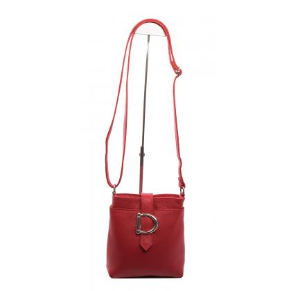 Bags and more Geltrude Piros Női Bőr Oldaltáska