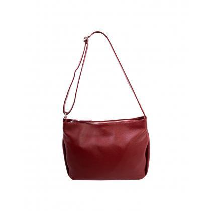 Bags and more Gia Bordó Női Bőr Oldaltáska