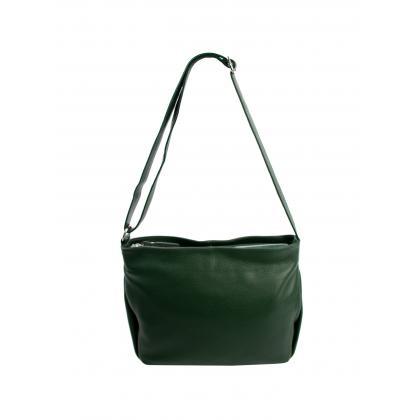 Bags and more Gia Zöld Női Bőr Oldaltáska