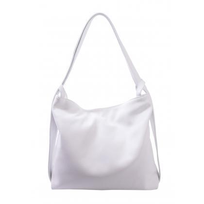 Bags and more Gilda Fehér Női Bőr Váll és Hátitáska