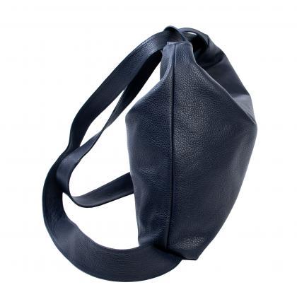 Bags and more Gilda Sötét kék Női Bőr Hátizsák