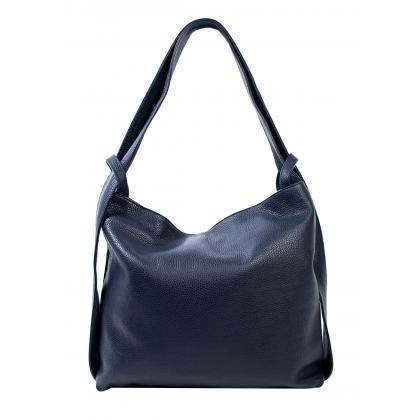Bags and more Gilda Sötétkék Női Bőr Váll és Hátitáska
