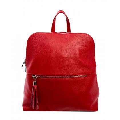 Bags and more Gina Piros Női Bőr Hátizsák