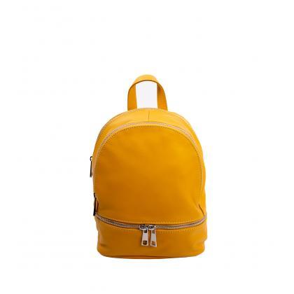 Bags and more Gisel Kicsi Ősz sárga Női Bőr Háti- és válltáska