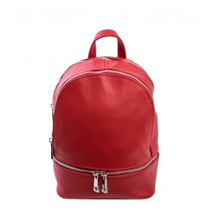 Bags and more Gisel Kicsi Piros Női Bőr Háti- és Válltáska