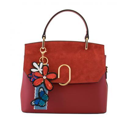 Bags and more Gratia Piros Női Bőr Kézitáska