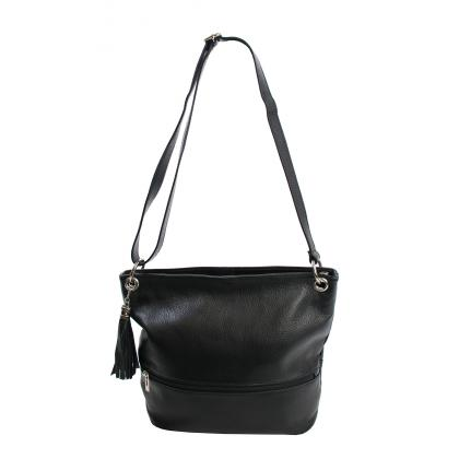 Bags and more Greta Fekete Női Bőr Válltáska