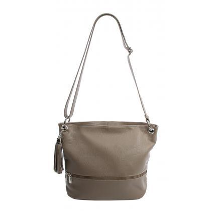 Bags and more Greta Homok Női Bőr Válltáska