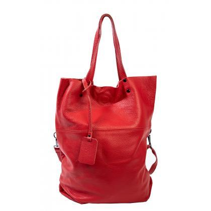 Bags and more Janet Piros Női Bőr Válltáska