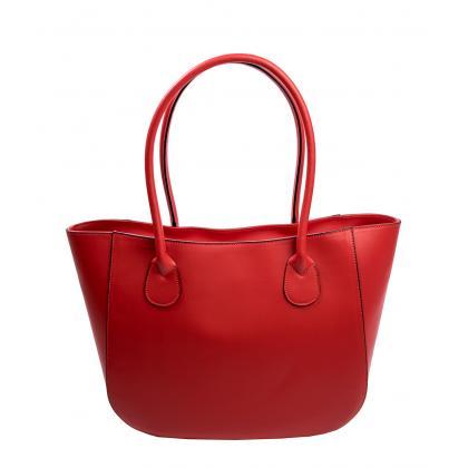 Bags and more Karina Piros Női Bőr Válltáska