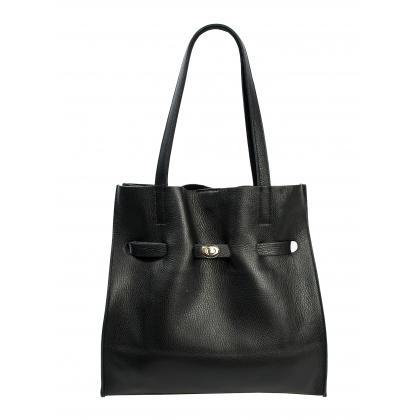 Bags and More Kitana Fekete Női Bőr Válltáska