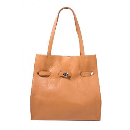 Bags and More Kitana Konyak Női Bőr Válltáska