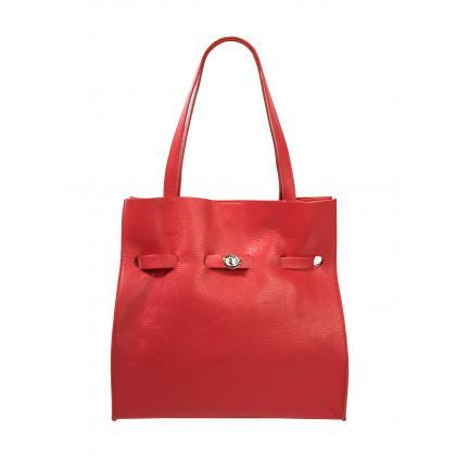 Bags and More Kitana Piros Női Bőr Válltáska