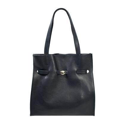 Bags and More Kitana Sötét kék Női Bőr Válltáska