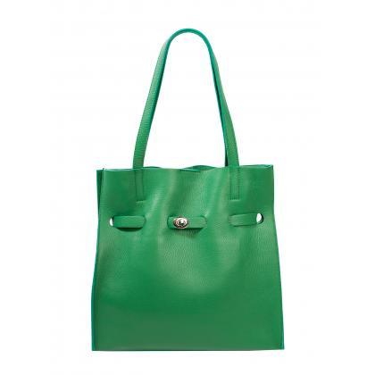 Bags and More Kitana Zöld Női Bőr Válltáska