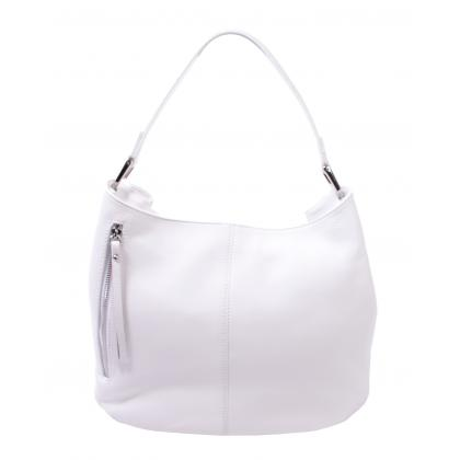 Bags and more Korny Fehér Női Bőr Válltáska