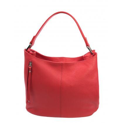 Bags and more Korny Piros Női Bőr Válltáska