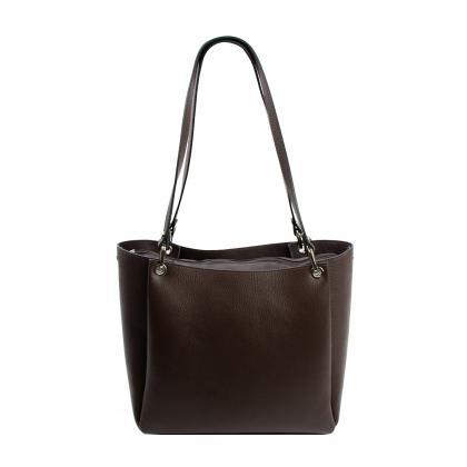 Bags and more Letizia Barna Női Bőr Válltáska