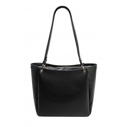 Bags and more Letizia Fekete Női Bőr Válltáska