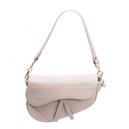 Bags and More Linda Bézs Női Bőr Válltáska