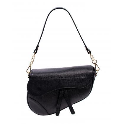 Bags and More Linda Fekete Női Bőr Válltáska