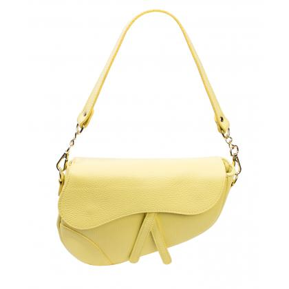 Bags and More Linda Sárga Női Bőr Válltáska