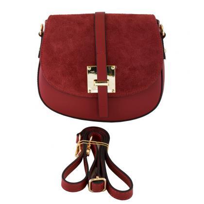 Bags and more Lucilla Piros Női Bőr Oldaltáska
