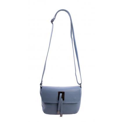 Bags and more Macario Világos kék Női Bőr Oldaltáska