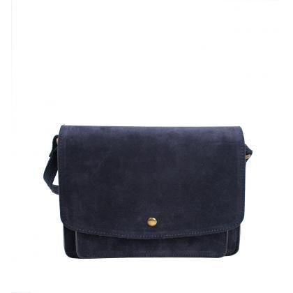 Bags and more Meo Kék Női Bőr Oldaltáska