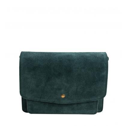 Bags and more Meo Zöld Női Bőr Oldaltáska
