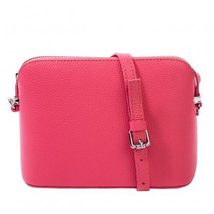 Bags and more Milla Pink Női Bőr Oldaltáska