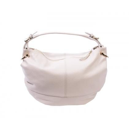 Bags and more Mona Bézs Női Bőr Válltáska