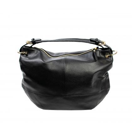 Bags and more Mona Fekete Női Bőr Válltáska