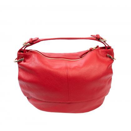 Bags and more Mona Piros Női Bőr Válltáska