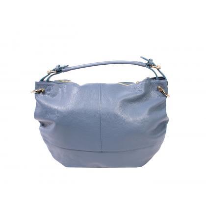 Bags and more Mona Világos kék Női Bőr Válltáska