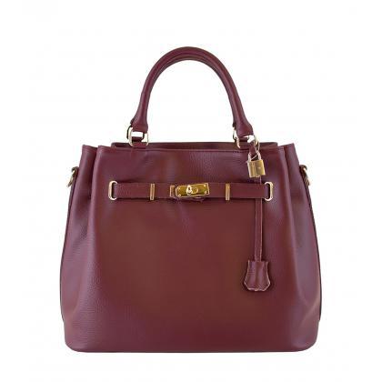 Bags and more Monalisa Burgundi Női Bőr Kézitáska