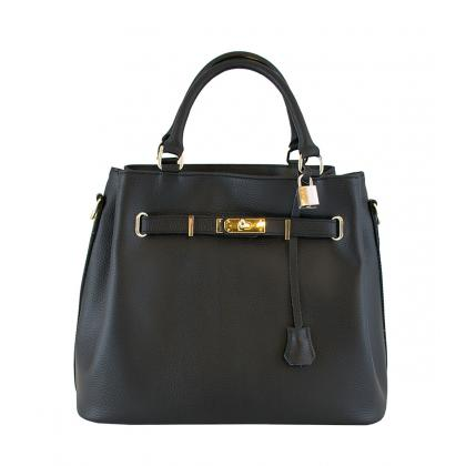 Bags and more Monalisa Fekete Női Bőr Kézitáska