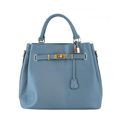 Bags and more Monalisa Világos kék Női Bőr Kézitáska