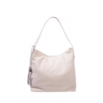 Bags and more Morella Bézs Női Bőr Válltáska