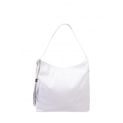 Bags and more Morella Fehér Női Bőr Válltáska