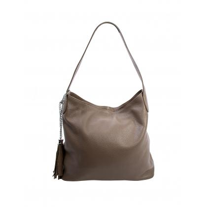 Bags and more Morella Homok Női Bőr Válltáska