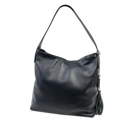 Bags and more Morella Kék Női Bőr Válltáska
