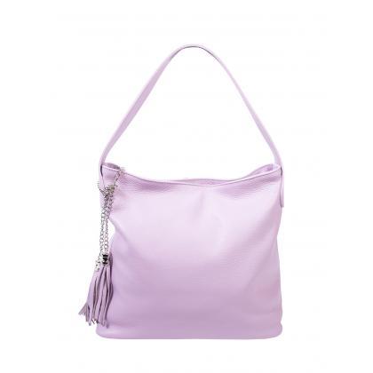 Bags and more Morella Lila Női Bőr Válltáska