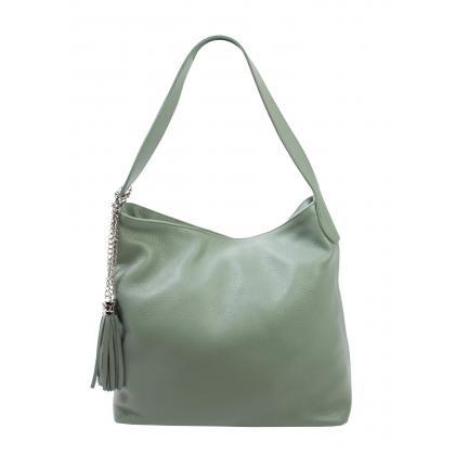 Bags and more Morella Mentazöld Női Bőr Válltáska