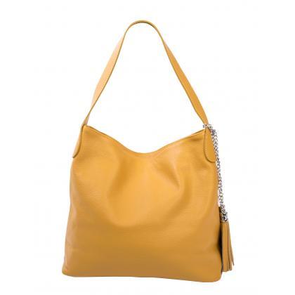 Bags and more Morella Ősz sárga Női Bőr Válltáska